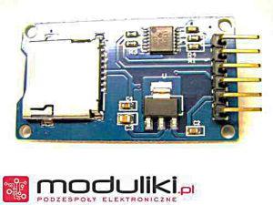 widok modułu na karte mikroSD