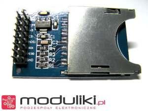 widok modułu czytnika karty SD